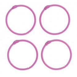 Ярко-розовый, кольца для альбомов d4,5см 4шт металл АртУзор