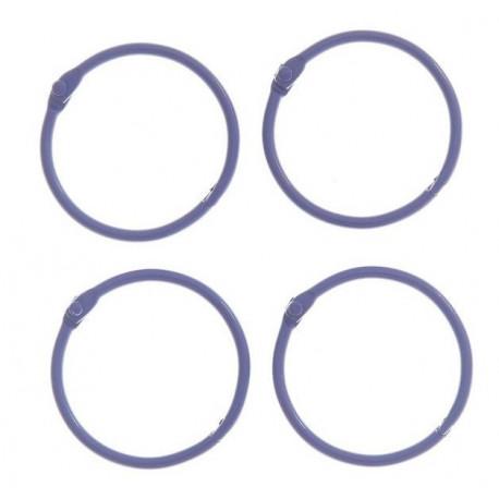 Фиолетовый, кольца для альбомов d4,5см 4шт металл АртУзор
