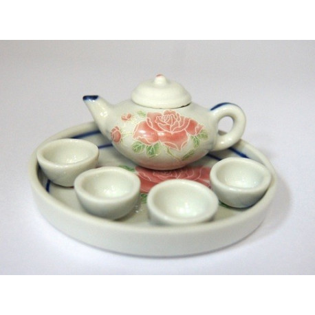 Чайный набор на подносе 6 предметов