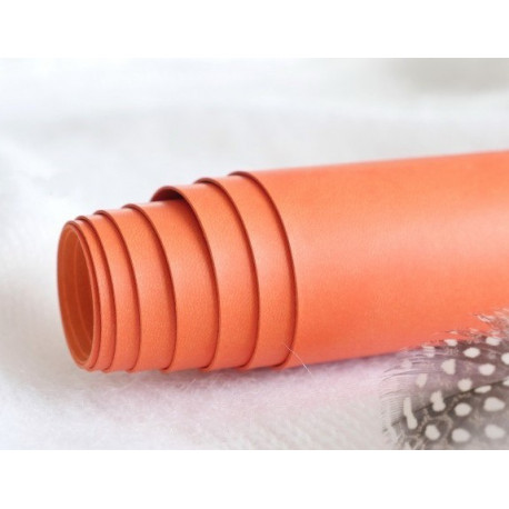 Апельсин, переплетный кожзам для скрапбукинга 33х70(±1см) Китай