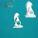 Беременная (маленький), шейкер 6,1х9см CraftStory