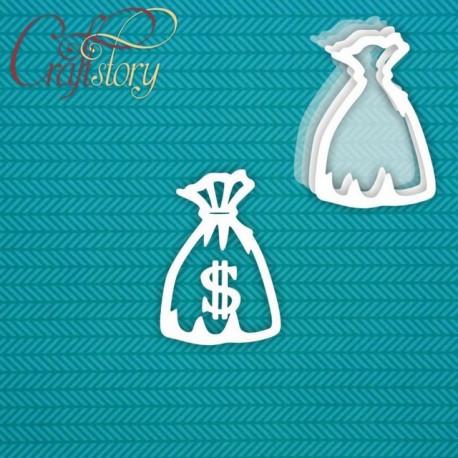 Мешок с деньгами (маленький), шейкер 6,5х9,4см CraftStory