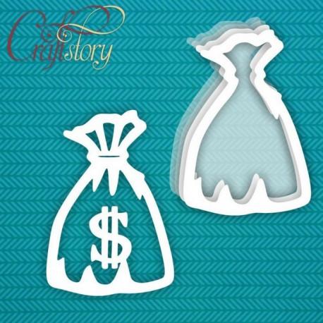Мешок с деньгами (большой), шейкер 9х13,1см CraftStory