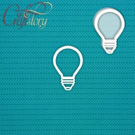 Лампочка (маленький), шейкер 4,2х4см CraftStory