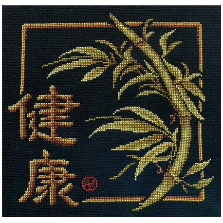 Здоровье, набор для вышивания крестиком, 22х22см, 10цветов Panna