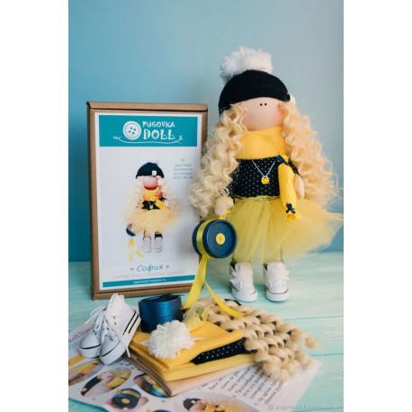 София, набор для шитья куклы 35см. Pugovka Doll