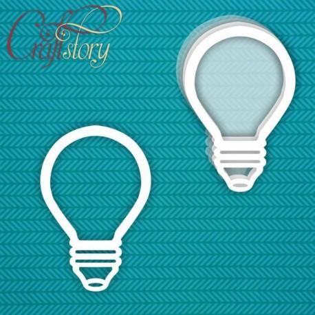 Лампочка (большой), шейкер 8х12см CraftStory