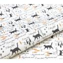 Кошачья история №3, ткань для пэчворка 48х50см 100%хлопок SL(AM)