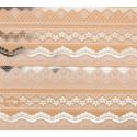 Кружево, односторонняя бумага крафтовая с фольгированием 30,5*30,5см 250г/м АртУзор