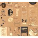 Славные зверушки, односторонняя бумага крафтовая с фольгированием 30,5*30,5см 250г/м АртУзор