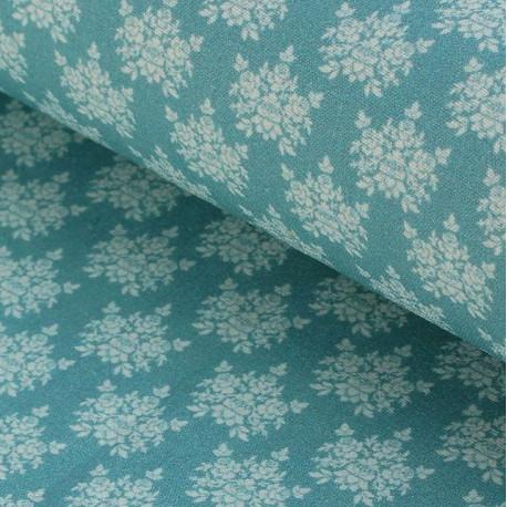 Гортензии №5 серо-голубые, ткань для пэчворка 48х50см 100%хлопок SL(AM)