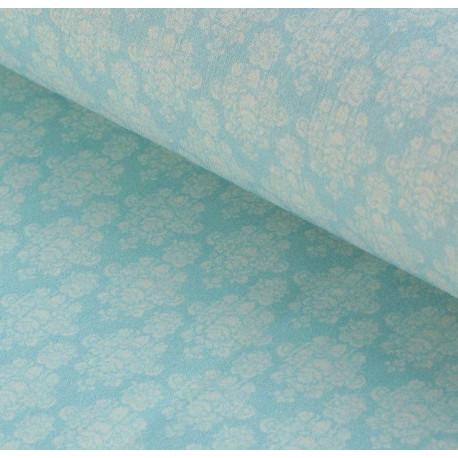 Гортензии №2 серо-голубые, ткань для пэчворка 48х50см 100%хлопок SL(AM)