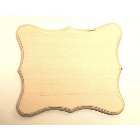 Накладка фигурная 5-01, заготовка для декорирования фанера 8мм 16.5х13.5см NZ
