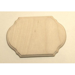 Накладка фигурная с фаской 1-02, заготовка для декорирования фанера 13х9см 6мм NZ
