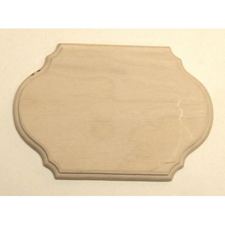 Накладка фигурная с фаской 1-03, заготовка для декорирования фанера 16х11см 6мм NZ