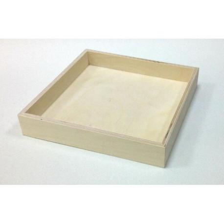 Поднос Чайный, заготовка для декорирования фанера 8-3мм 23х23х4см NZ