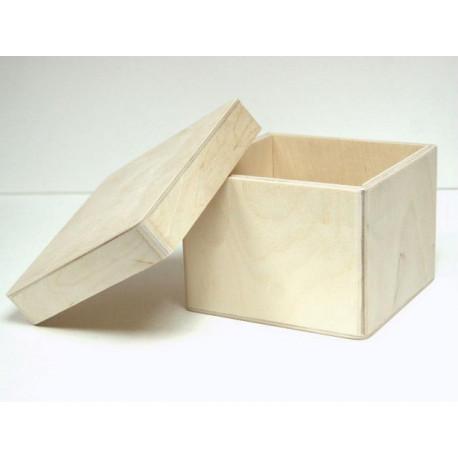 Короб Прованс широкий, заготовка для декорирования фанера 3-9мм 14х14х10,5см NZ