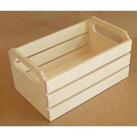 Ящик реечный средний, заготовка для декорирования фанера 6-9мм 25х16х13см NZ