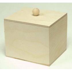 Коробочка чайная с ручкой, заготовка для декорирования 10,5х9х8,5см фанера 3-6мм NZ