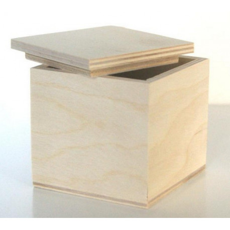 Коробочка чайная Кубик, заготовка для декорирования 7х7х7см фанера 3-6мм NZ