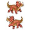 Трицератопс.Динозавры, набор для вышивания крестиком на пластиковой канве 9х12см,12цветов Жар-птица