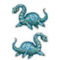 Плезиозавр.Динозавры, набор для вышивания крестиком на пластиковой канве 9х13см 12цветов Жар-птица