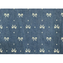 Бантик синий, ткань джинс FD 48х50см 60%хлопок 40%полиэстер