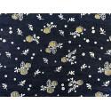 Букет-2 т.синий, ткань джинс FD 48х50см 60%хлопок 40%полиэстер