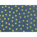 Цветок-1 синий-желтый, ткань джинс FD 48х50см 60%хлопок 40%полиэстер