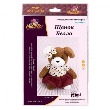 Щенок Белла, набор для шитья 14см Miadolla