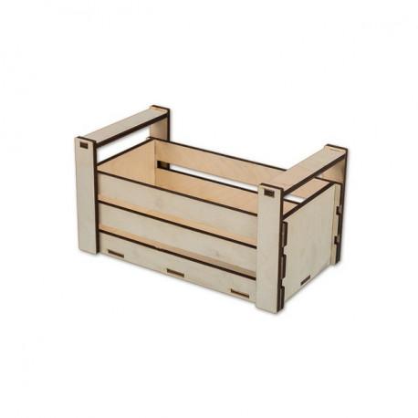 Ящик с ручками, заготовка для декорирования фанера 4-6мм 24х12,5х13,4см Mr.Carving