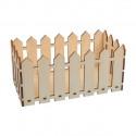 Ящик-забор, заготовка для декорирования фанера 4мм 23.5х11.5х10см Mr.Carving