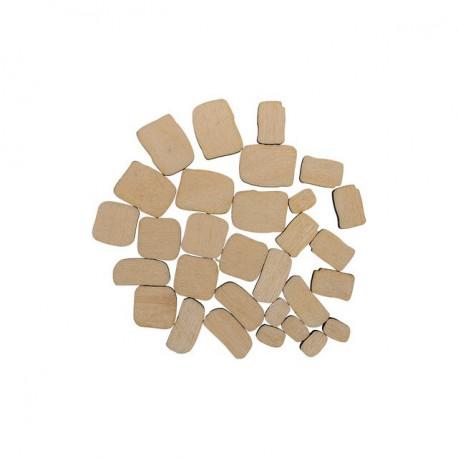 Камни, набор мини фигур, заготовка для декорирования фанера 3мм 0.5-2см Mr.Carving