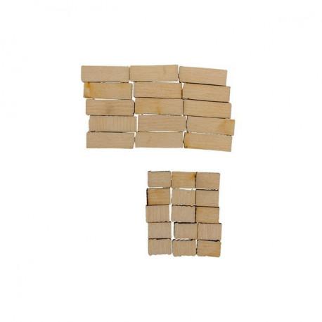 Кирпичи, набор мини фигур, заготовка для декорирования фанера 3мм 0.5-2см Mr.Carving
