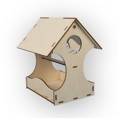 Домик, кормушка для птиц, заготовка для декорирования фанера 4мм 22х25см Mr.Carving
