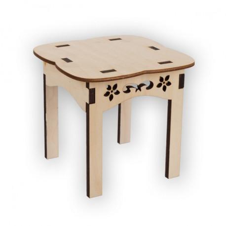 Стол Прованс, заготовка для декорирования фанера 3-6мм 13х14х14см Mr.Carving