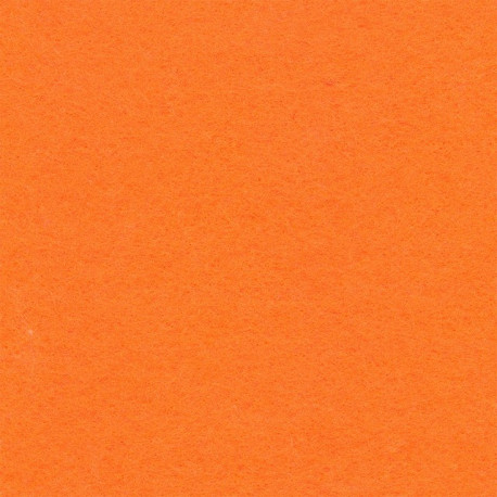 Оранжевый/люминесцентный, фетр декоративный 100% полиэcтер, толщина 1мм, 30х45см