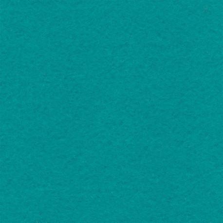 Бирюзовый, фетр декоративный 100% полиэcтер, толщина 1мм, 30х45см