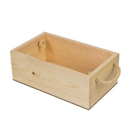 Ящик с веревочными ручками, заготовка для декорирования сосна, 19х25х9см Mr.Carving