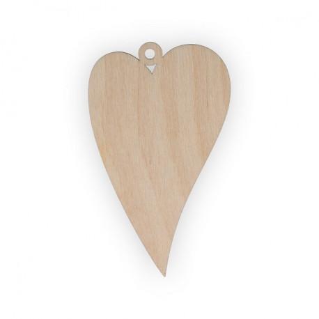 Сердце, заготовка для декорирования фанера 3мм 10х6м. Mr.Carving
