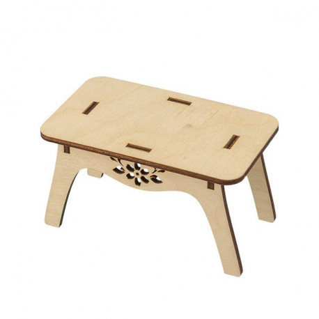 Столик, заготовка для декорирования фанера 4мм 7х13х7,5см Mr.Carving