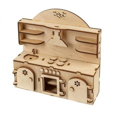 Кухонный гарнитур, заготовка для декорирования фанера 4мм 22х22см Mr.Carving