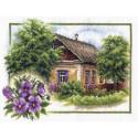 Лето в деревне, набор для вышивания крестиком, 26х20см, 35цветов Panna