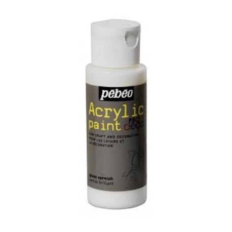 Лак с глиттер-эффектом прозрачный Acrylic paint 59мл Pebeo +t!