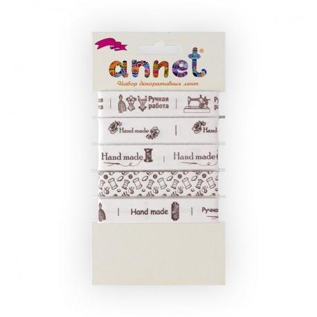 Ручная работа, набор декоративных лент ширина 16мм, 5шт по 1м , Annet
