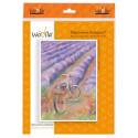 Прогулка за лавандой, набор для иготовления картины из шерсти 21х30см. Woolla
