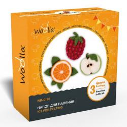 Фруктово-ягодные, набор для валяния броши 3шт Woolla