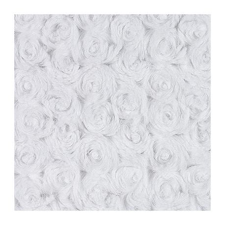 Яр.белый, ткань плюш 48х48см (±1см) Peppy