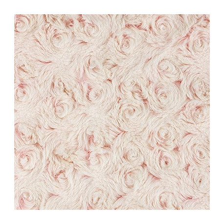 Пепельно-розовый/кремовый, ткань плюш 48х48см (±1см) Peppy