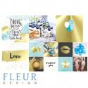 Pretty tiffany, набор карточек 9,5х9,5 + 5х5 см 4+8шт Fleur Design